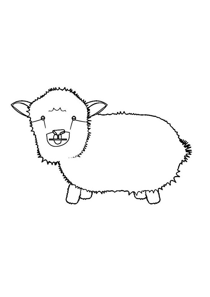 sheep coloring page 17