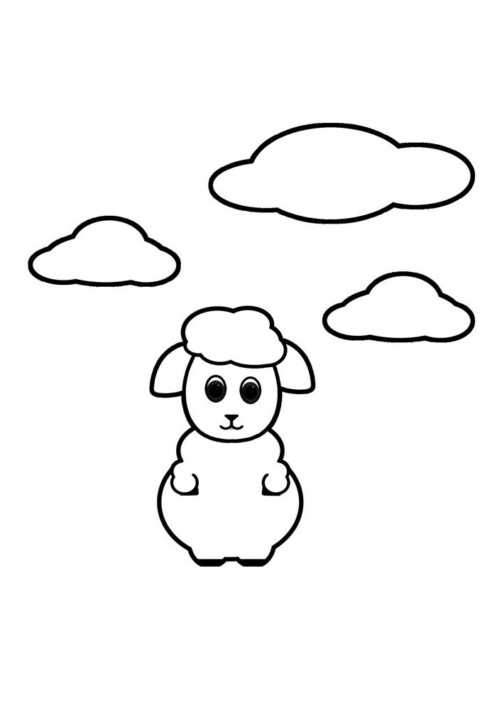 sheep coloring page 2