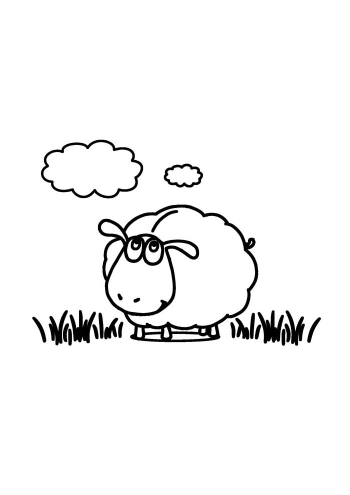 sheep coloring page 3