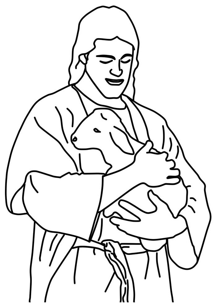 sheep coloring page 6