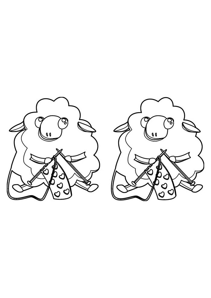 sheep coloring page 7