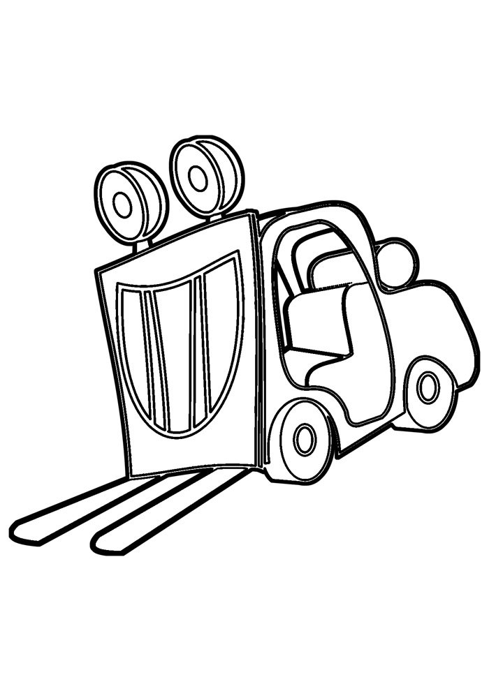 truck coloring page 10