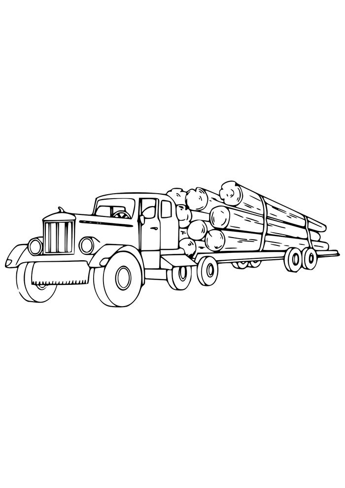 truck coloring page 11