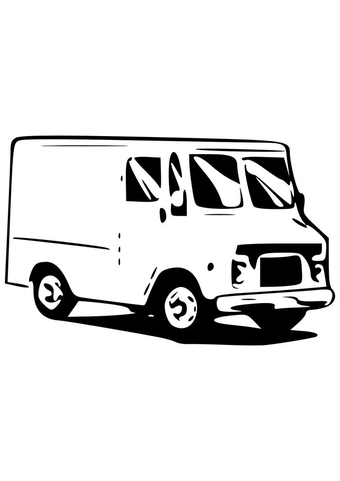 truck coloring page 12