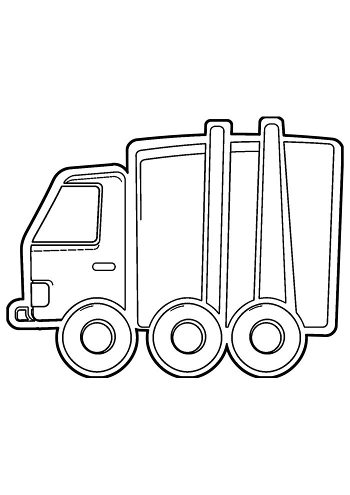 truck coloring page 17