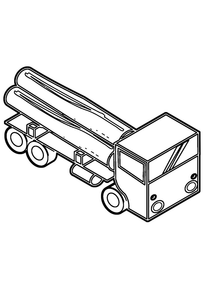 truck coloring page 19