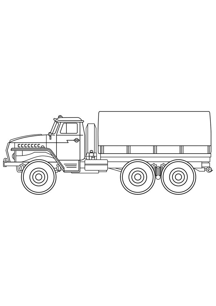 truck coloring page 2