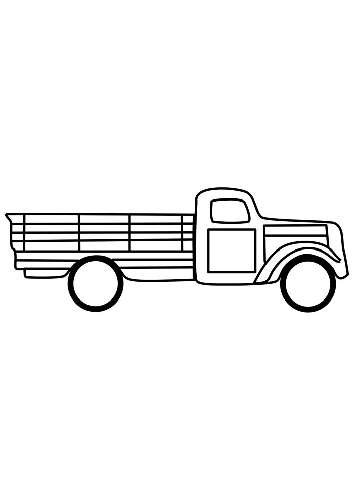 truck coloring page 23