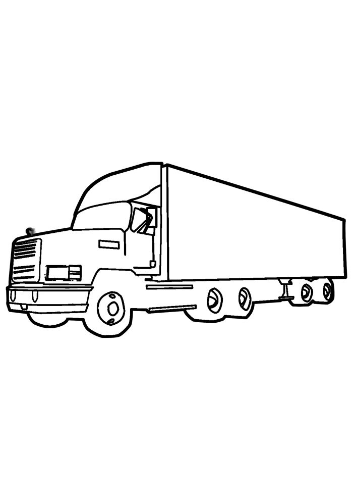 truck coloring page 24