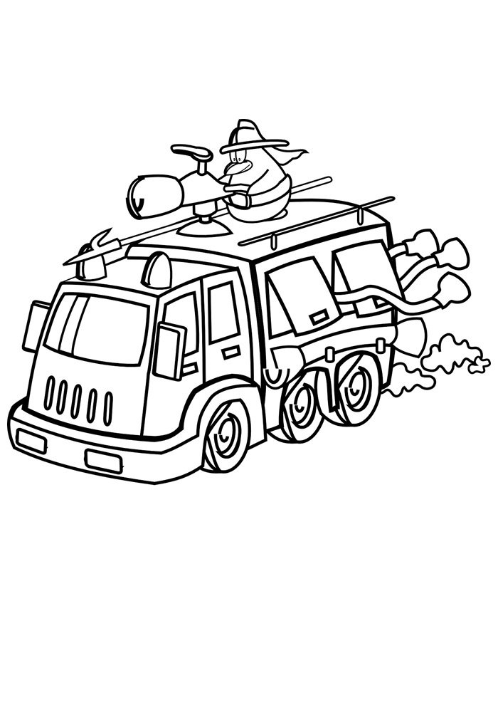 truck coloring page 25