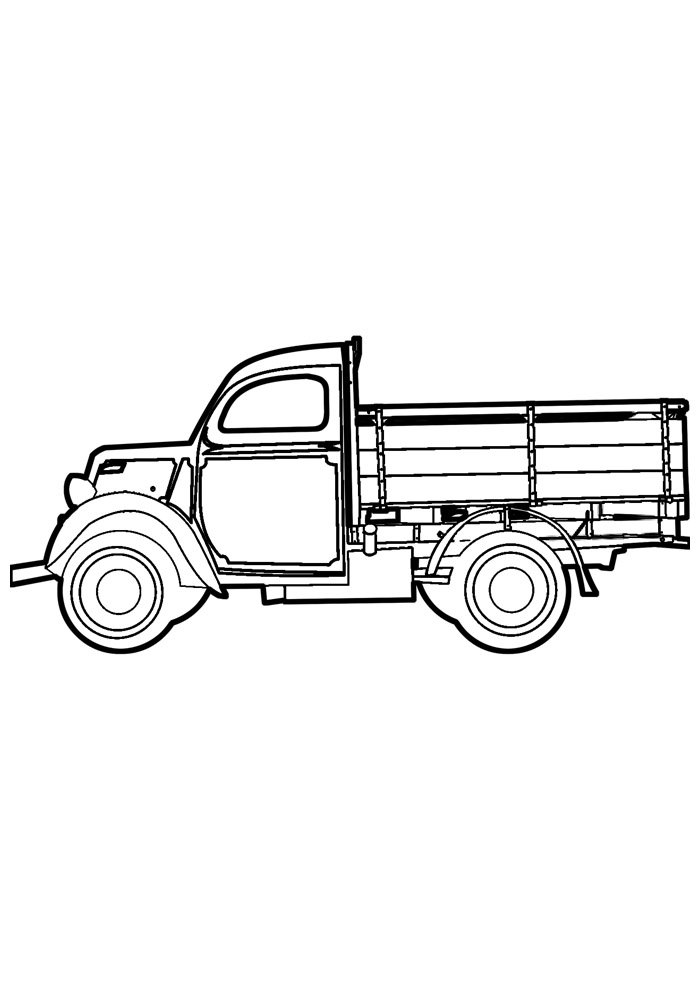 truck coloring page 27