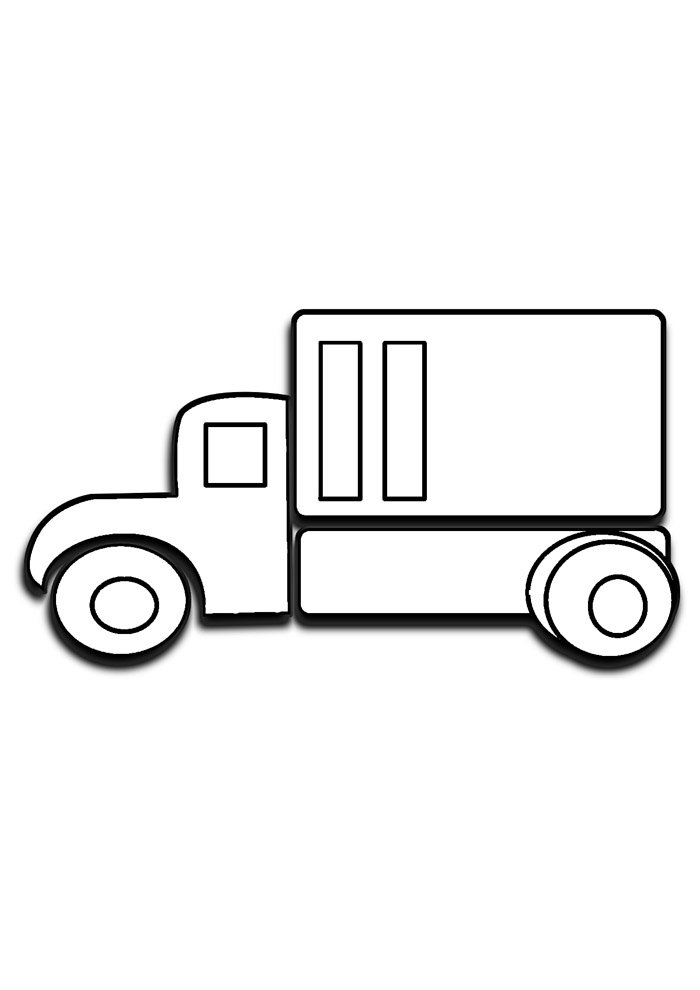 truck coloring page 3