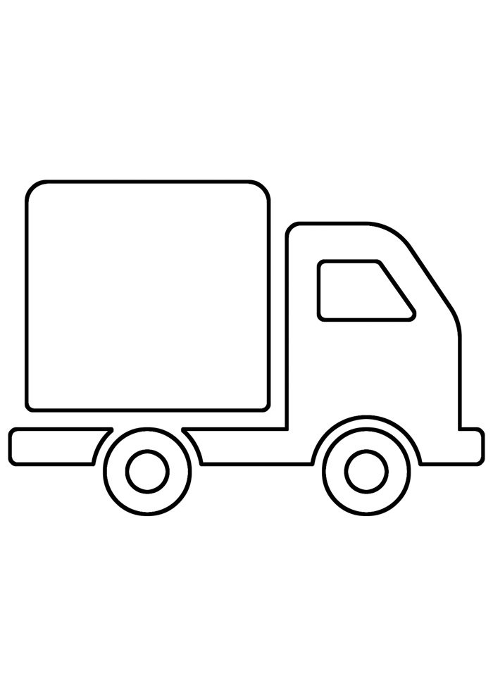 truck coloring page 4