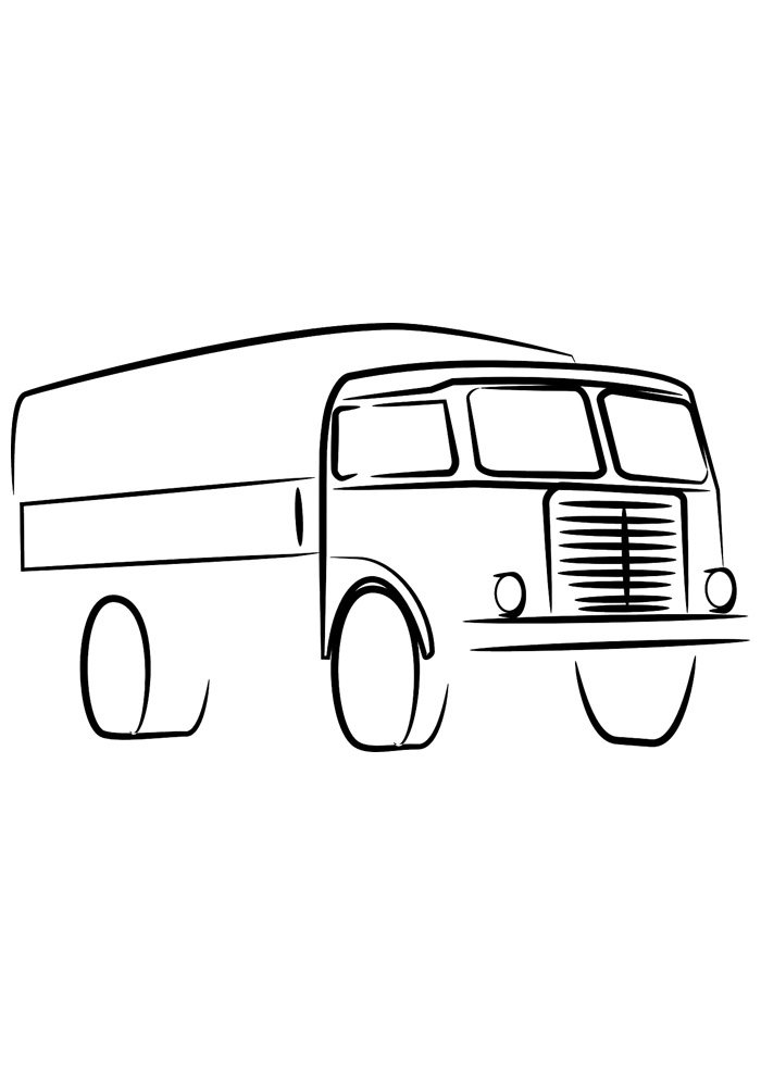 truck coloring page 5