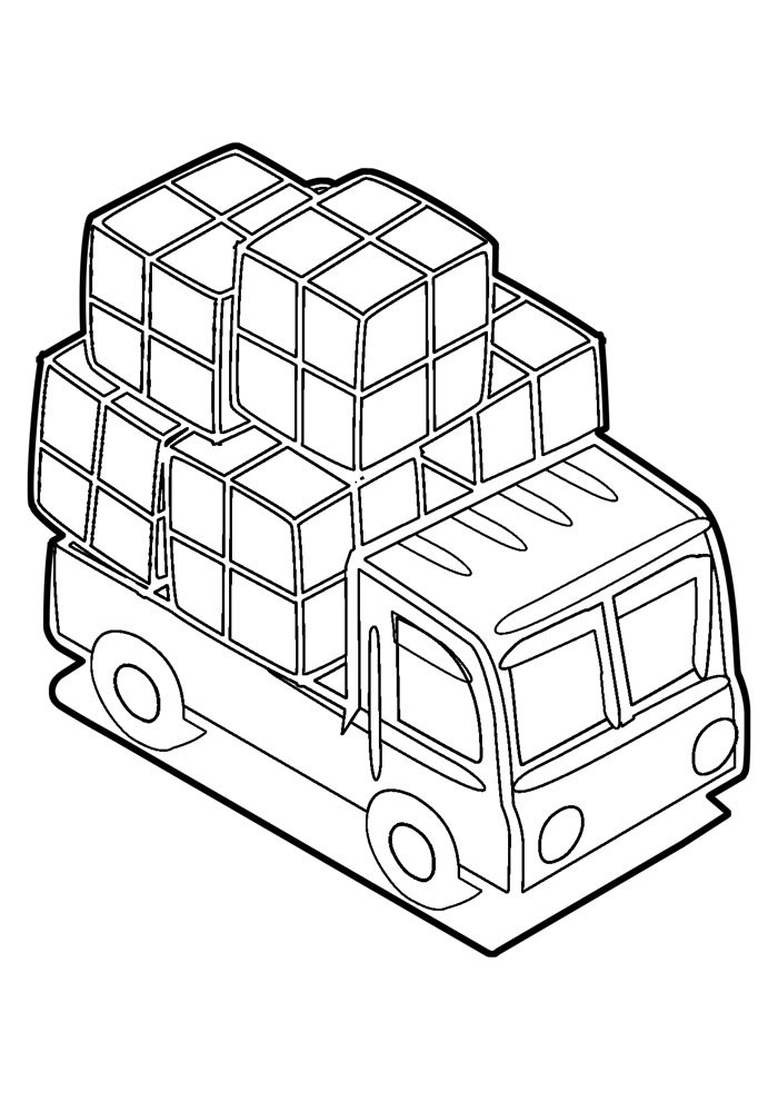 truck coloring page 7