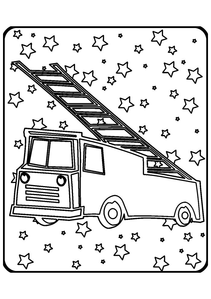 truck coloring page 9