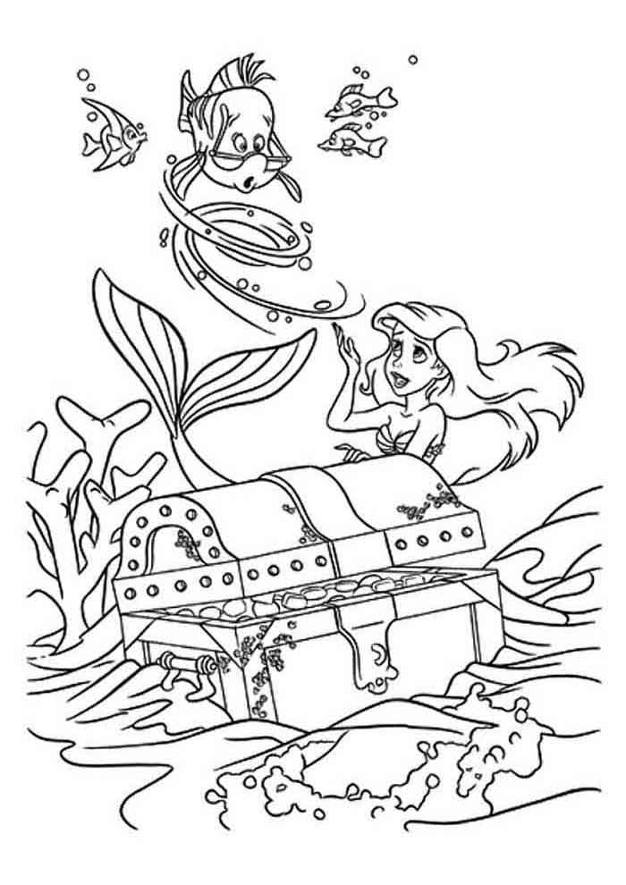 ariel coloring page 13