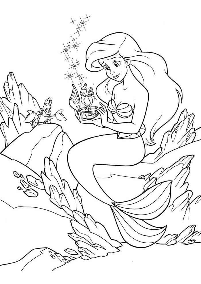 ariel coloring page 2