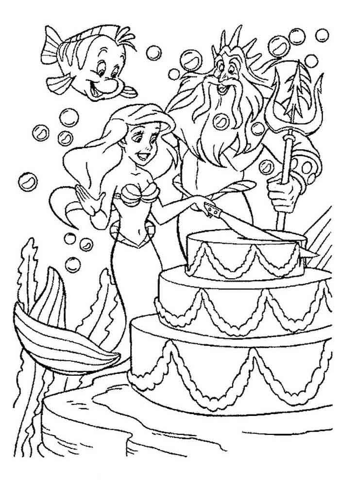ariel coloring page 22