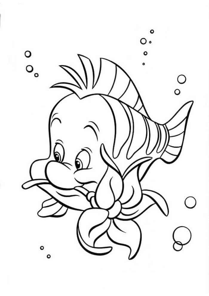 ariel coloring page 32