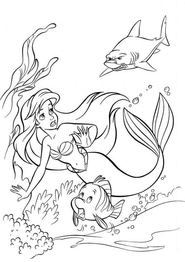 ariel coloring page 34