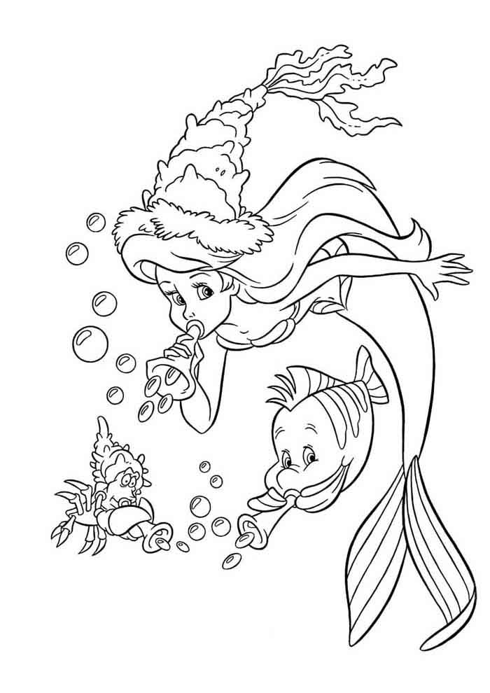 ariel coloring page 37