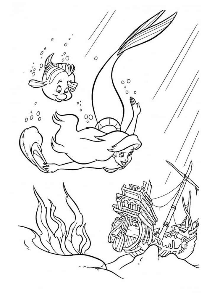 ariel coloring page 7