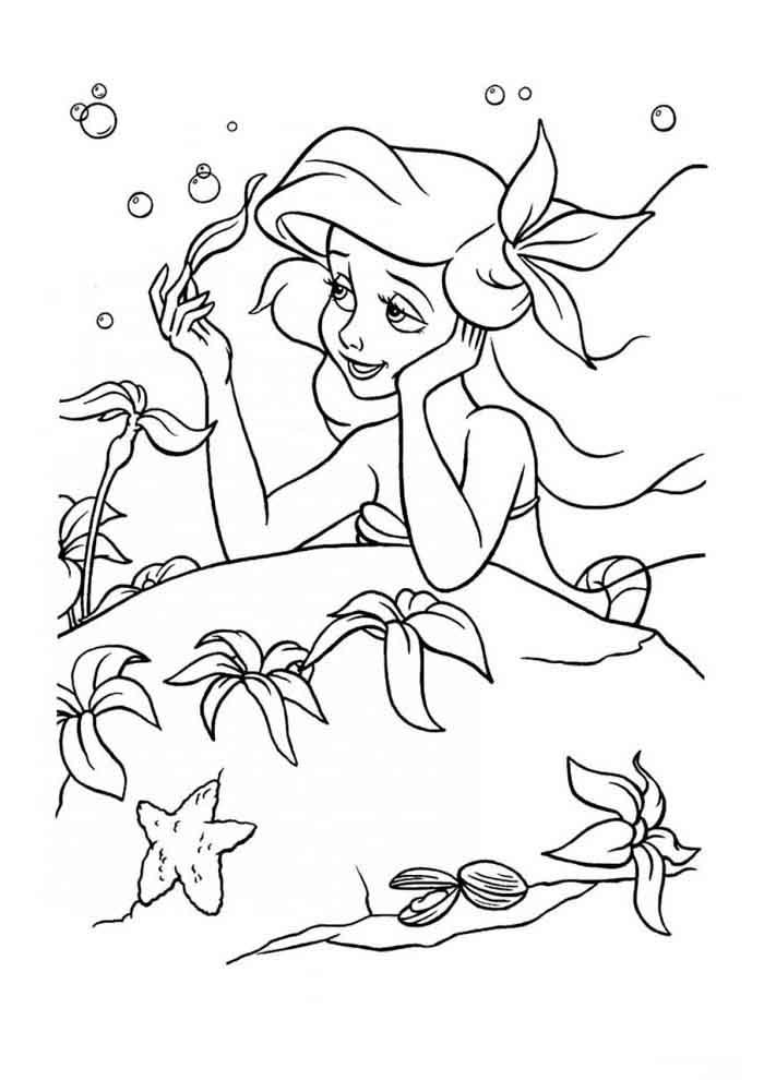 ariel coloring page 8