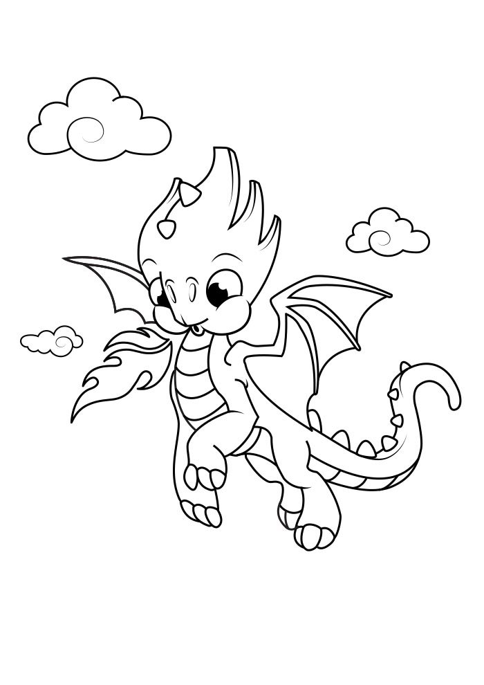 dragon coloring page 1