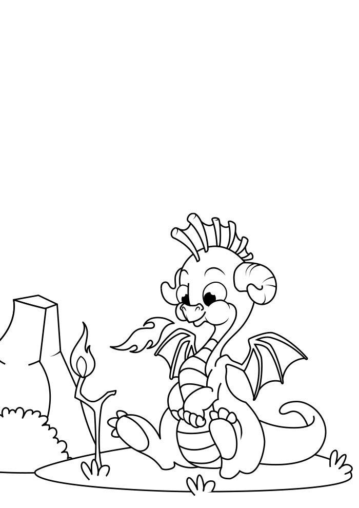 dragon coloring page 10
