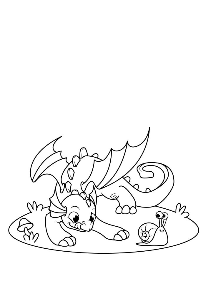 dragon coloring page 11