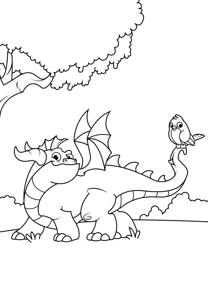 dragon coloring page 12
