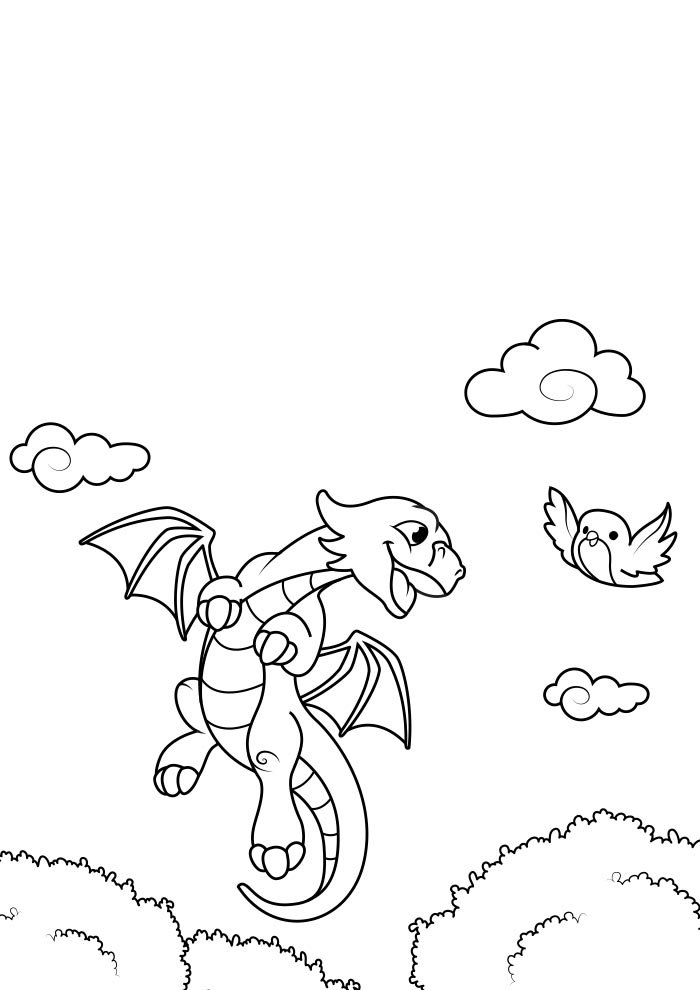 dragon coloring page 14