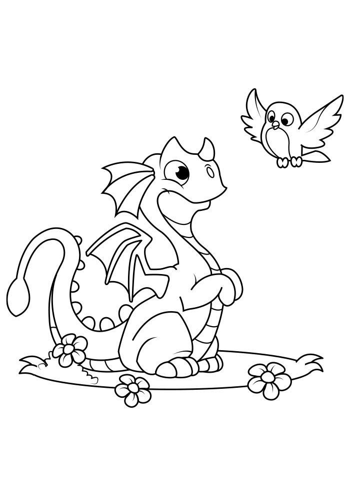 dragon coloring page 2