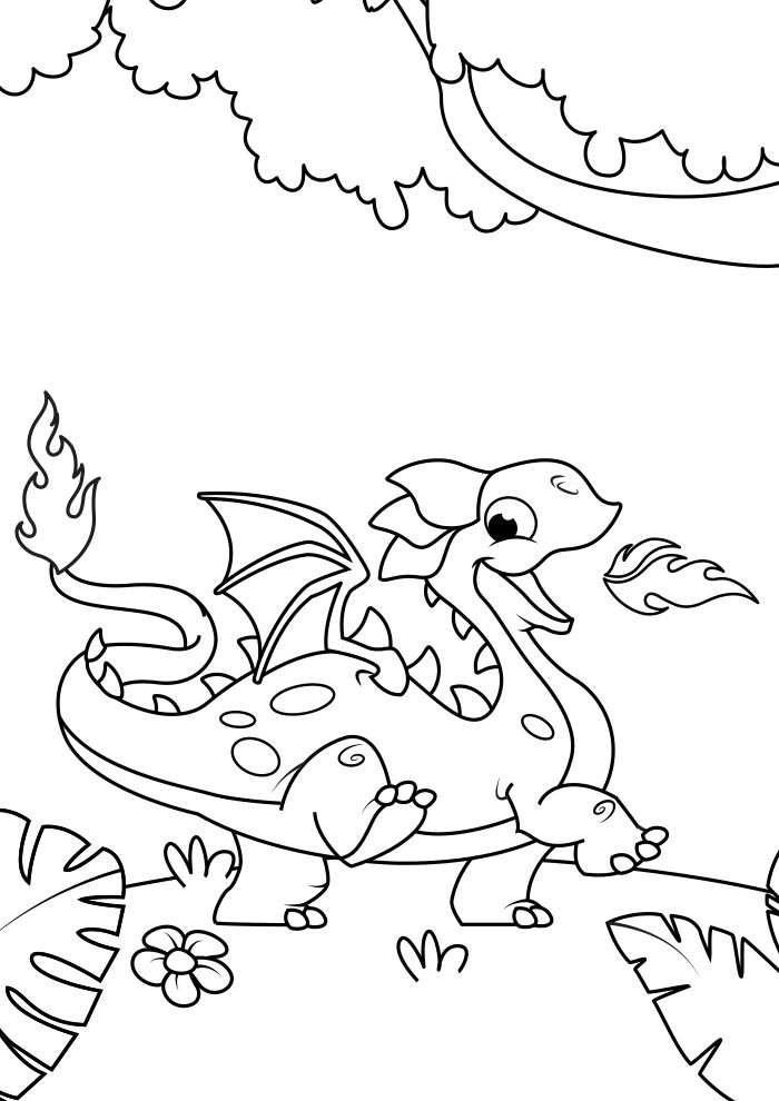 dragon coloring page 3