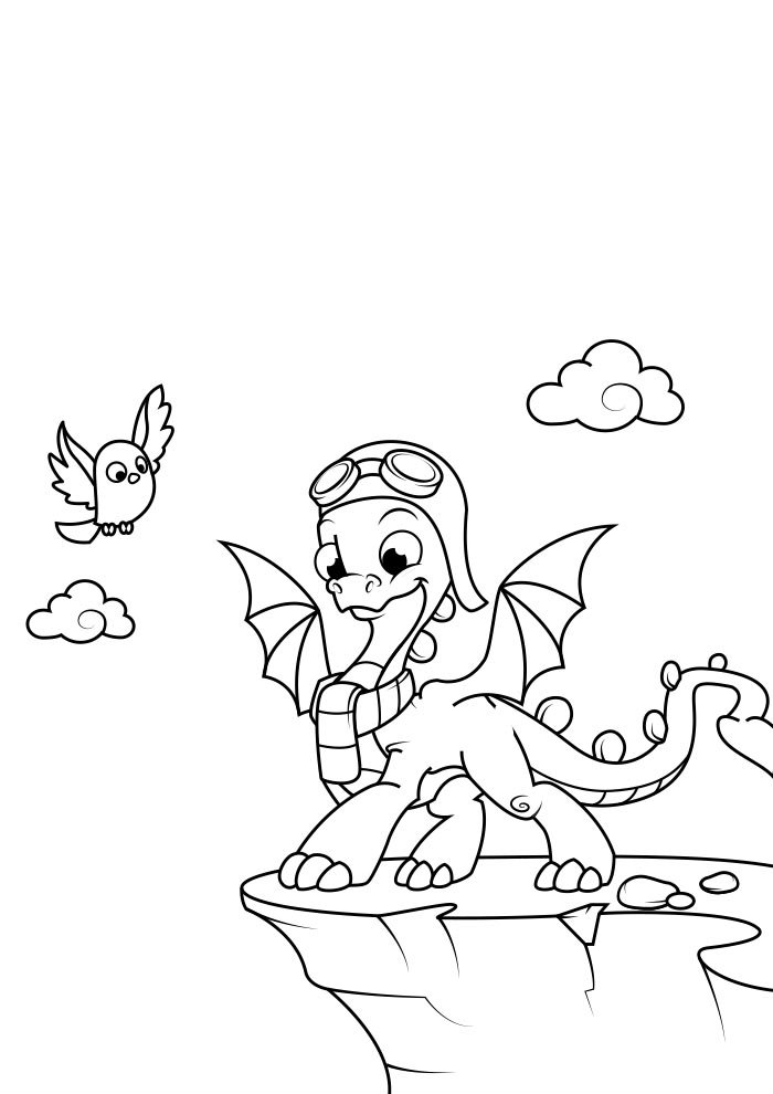 dragon coloring page 4