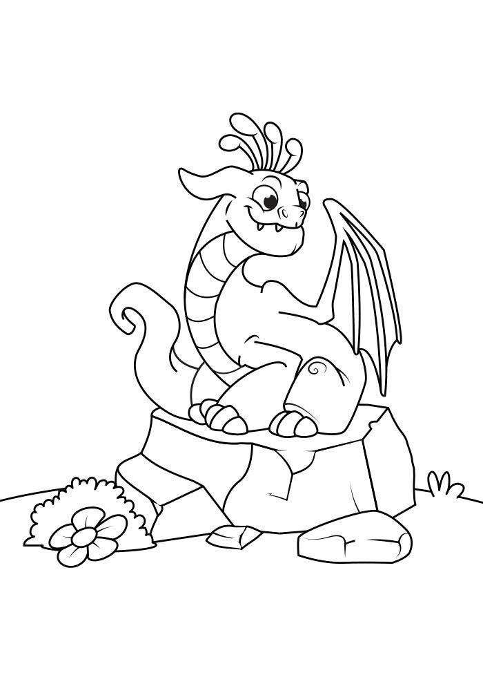 dragon coloring page 5