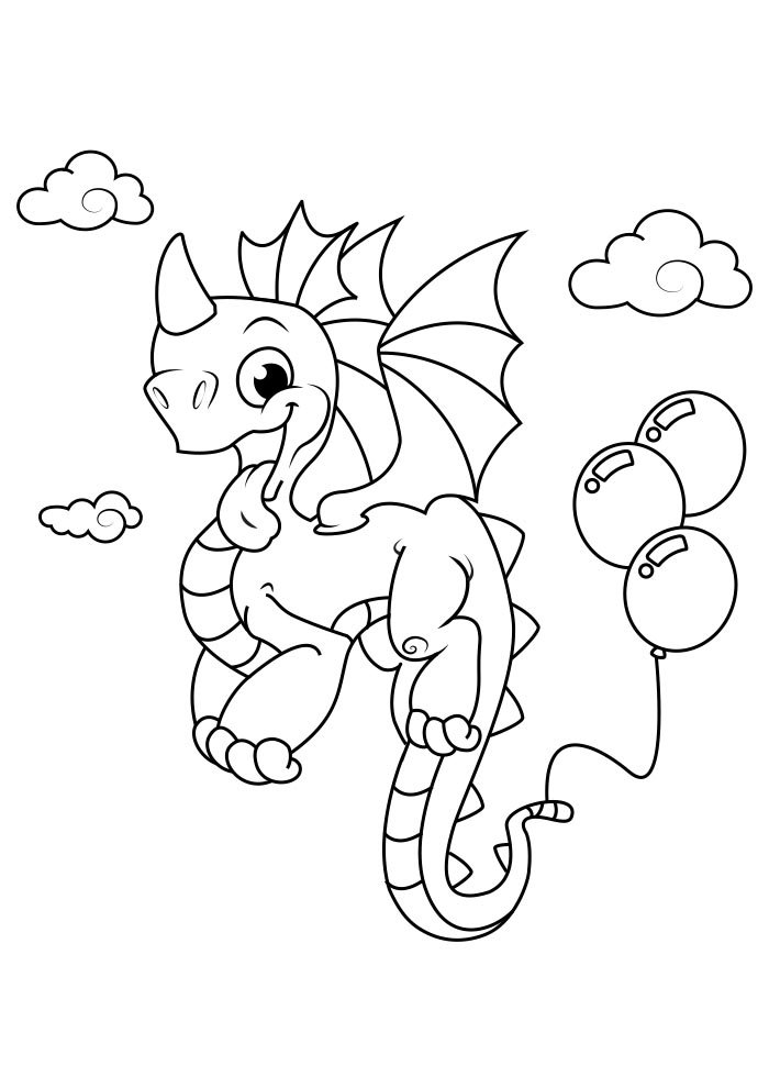 dragon coloring page 7