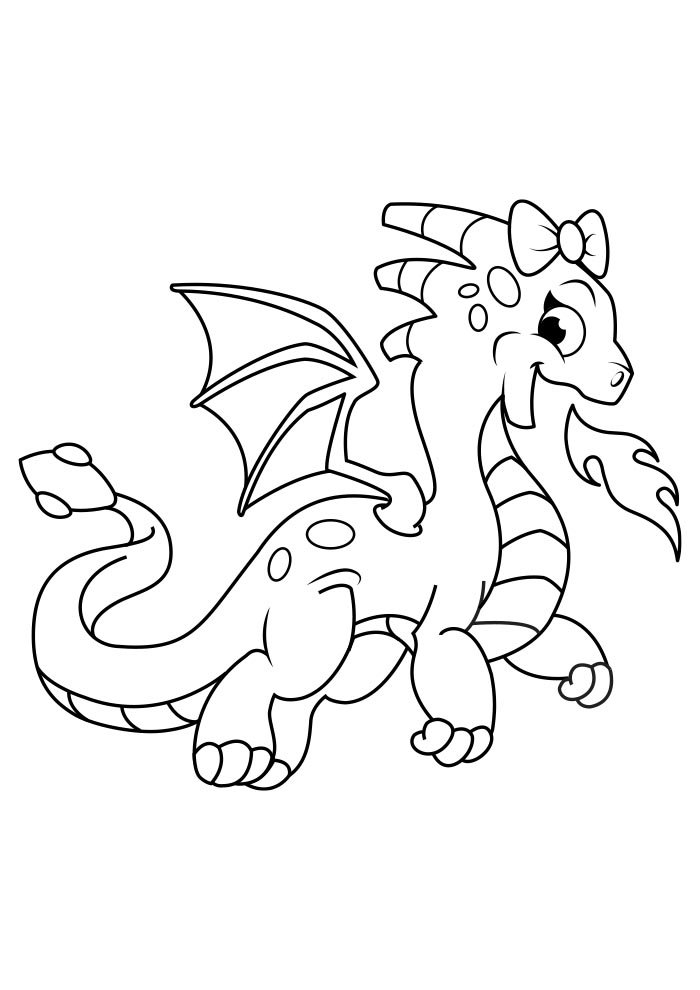 dragon coloring page 8