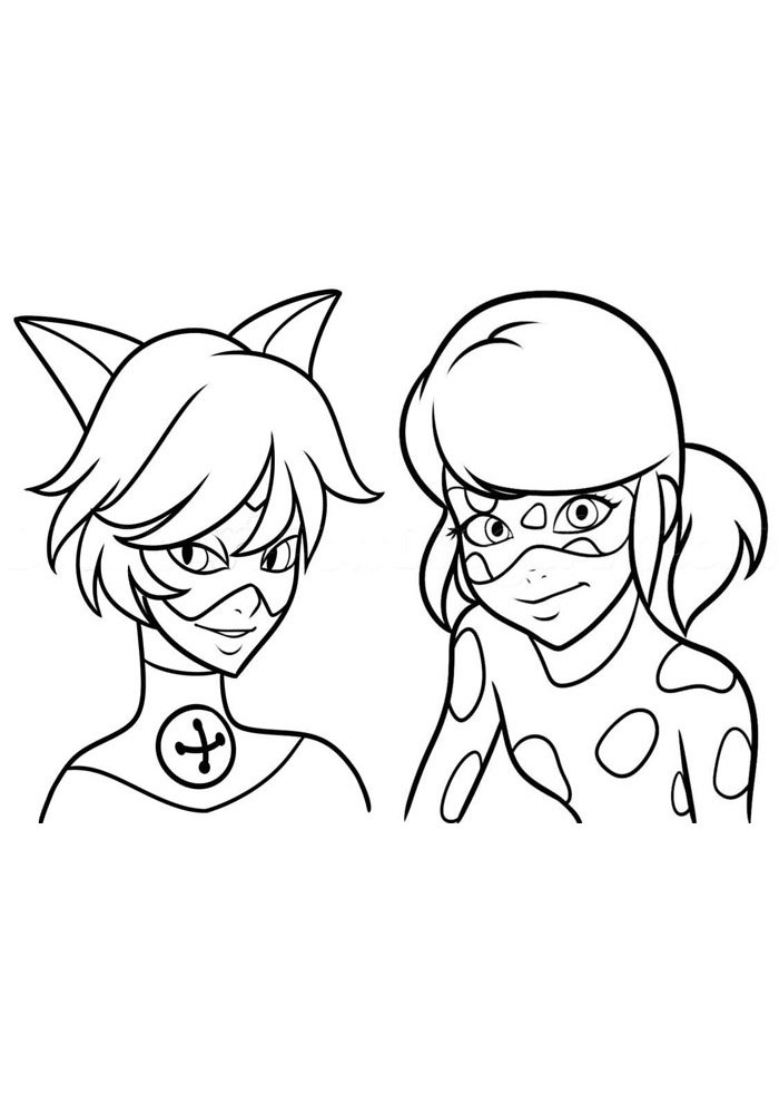 miraculous ladybug coloring page 10