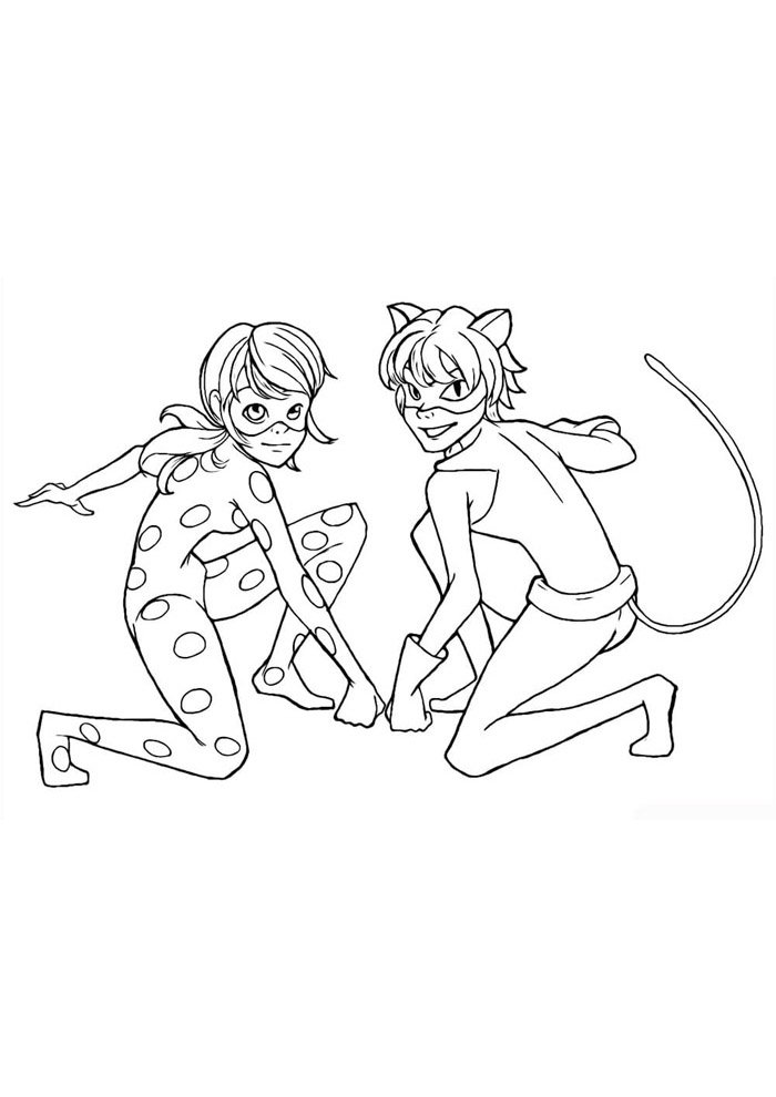 miraculous ladybug coloring page 6