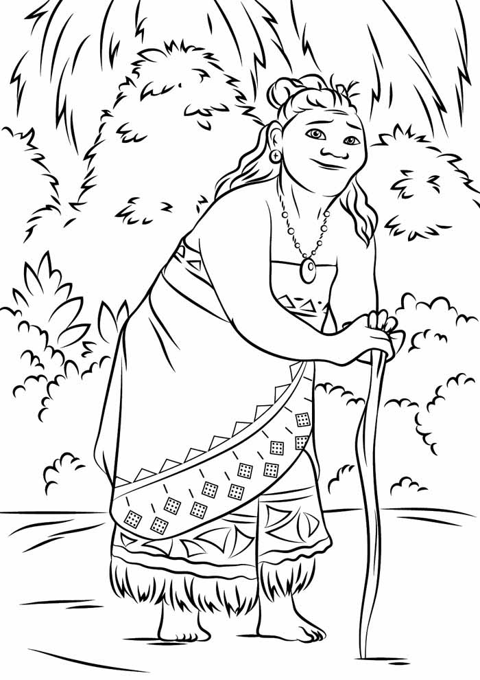 moana coloring page 10