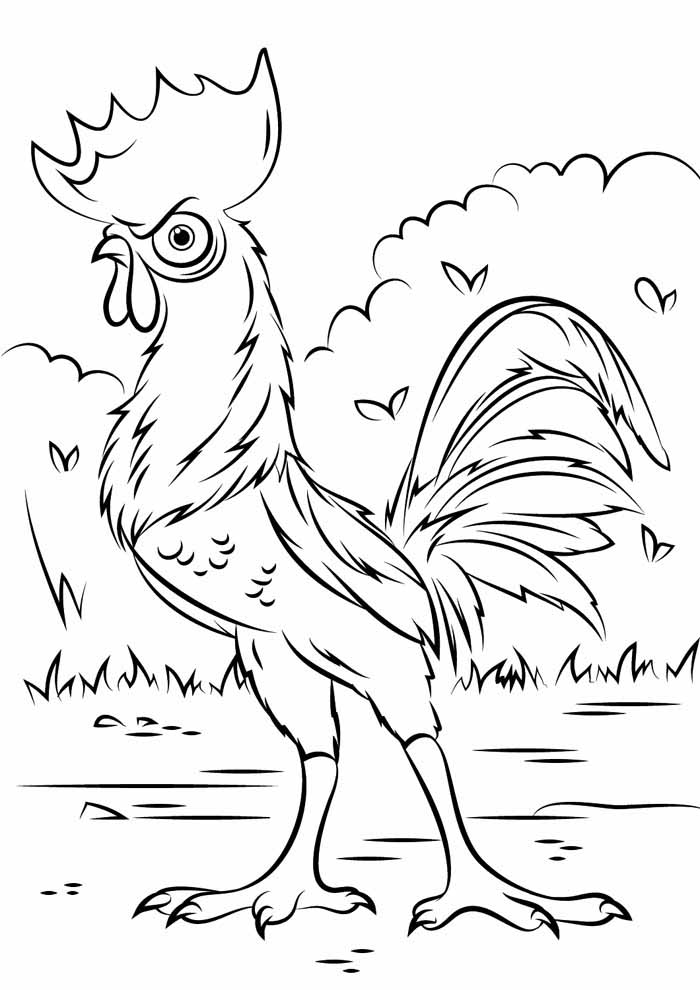 moana coloring page 11