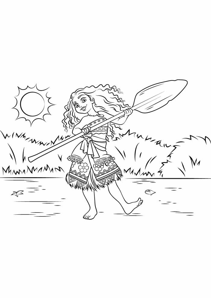 moana coloring page 14
