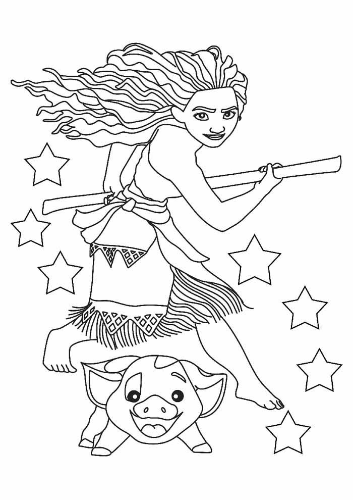 moana coloring page 17