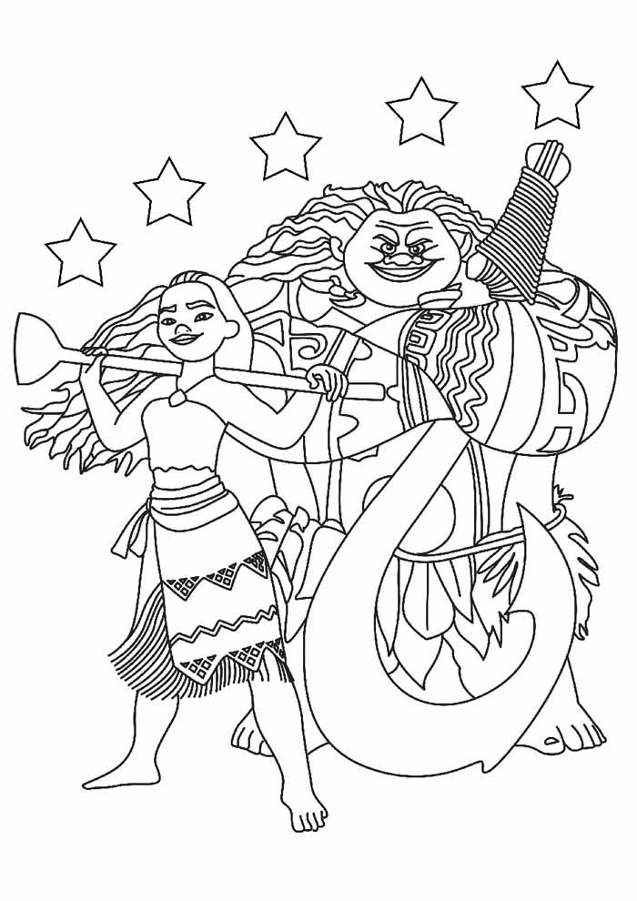 moana coloring page 18