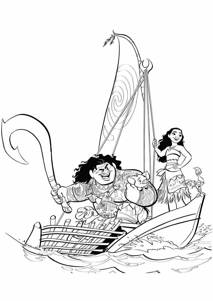 moana coloring page 19
