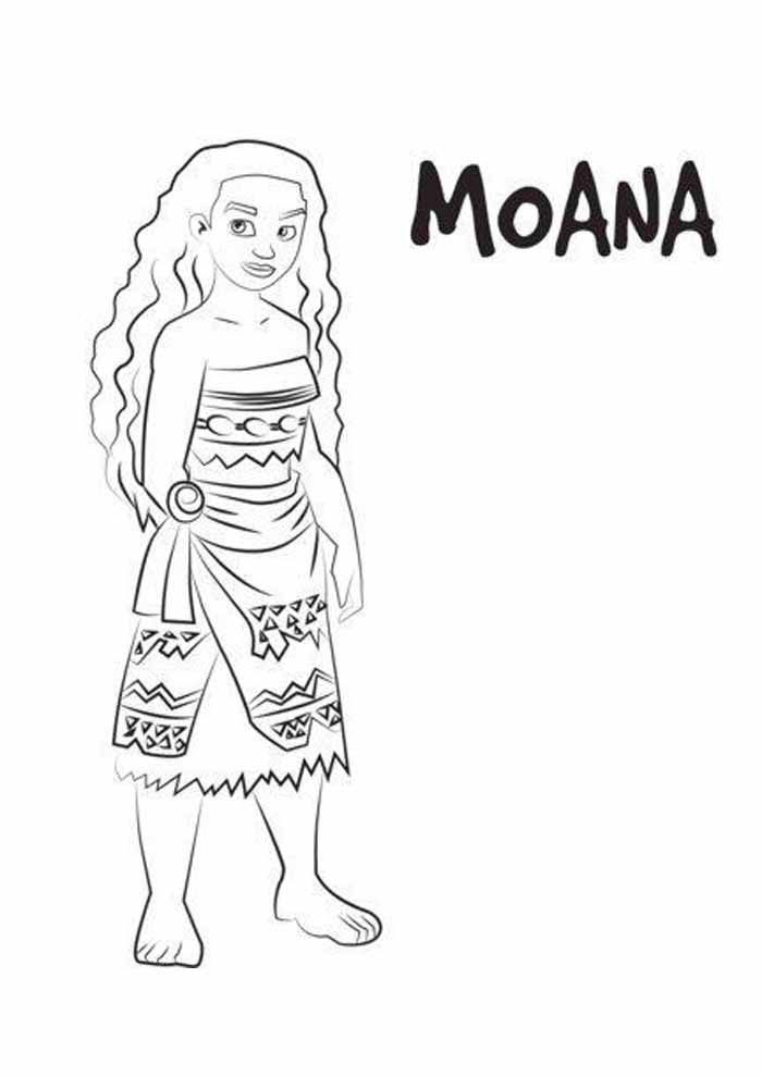 moana coloring page 2