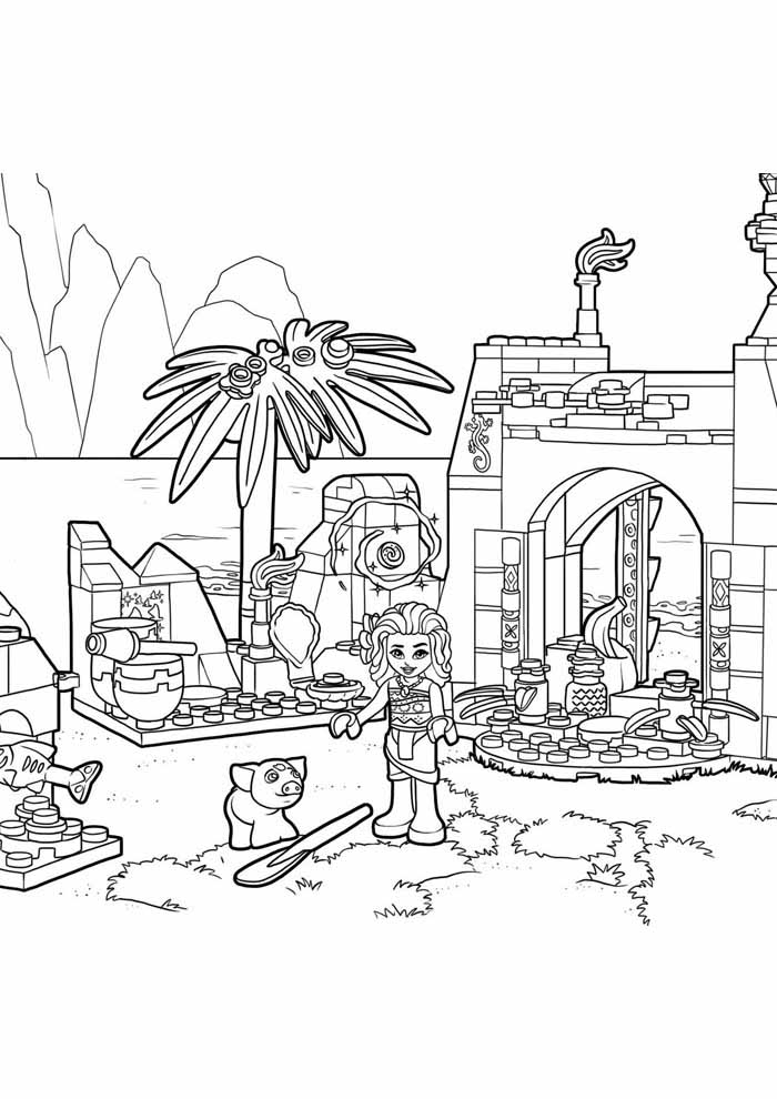 moana coloring page 20