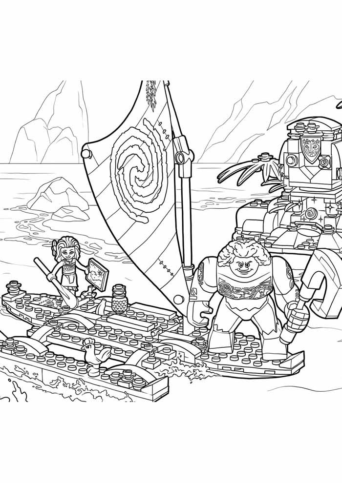 moana coloring page 21